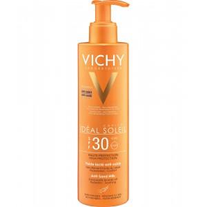 Vichy Ideal Soleil SPF30 Αντηλιακό Γαλάκτωμα για Πρόσωπο/Σώμα Κατά της Άμμου 200ml