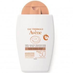 Avene Eau Thermale Fluide Mineral Teinte SPF50+ Αντιηλιακό Προσώπου για το ευαίσθητο, μη ανεκτικό δέρμα, με Χρώμα, 40ml