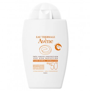 Avene Eau Thermale Fluide Mineral SPF50+Αντιηλιακό Προσώπου για το Ευαίσθητο,Μη Ανεκτικό Δέρμα 40ml