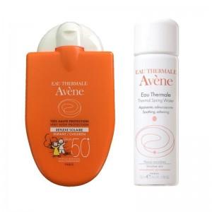 AVENE Reflexe Solaire Enfant SPF50+ Παιδική Αντηλιακή Κρέμα Προσώπου 30ml + ΔΩΡΟ Eau Thermale Ιαματικό Νερό 50ml