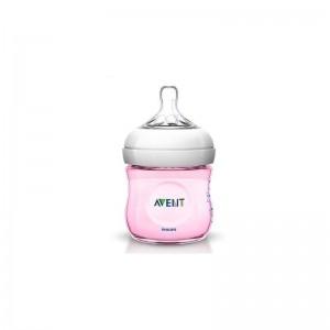 Avent Πλαστικό Μπιμπερό Natural 0m+ Ροζ 125ml 1τμχ SCF691/17