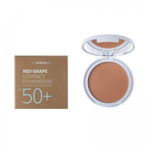 Korres Κόκκινο Σταφύλι Compact Foundation SPF50+ Light Sunglow 8gr