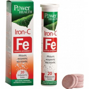 Power Health Iron + C, 20 Αναβράζοντα δισκία με Σίδηρο & Βιταμίνη C