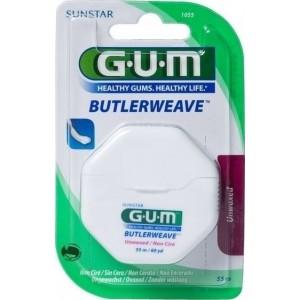 GUM ButlerWeave οδοντικό νήμα ακήρωτο 55m (1055)
