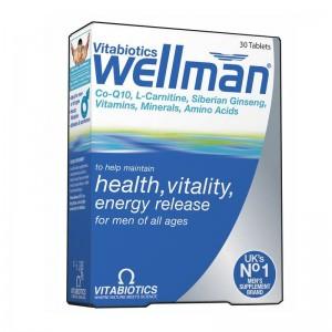Vitabiotics Wellman Original Πολυβιταμινούχο Σκεύασμα 30 tabs