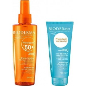 Bioderma Photoderm Invisible Mist Spf50 200ml & Δώρο After Sun Milk 100ml.