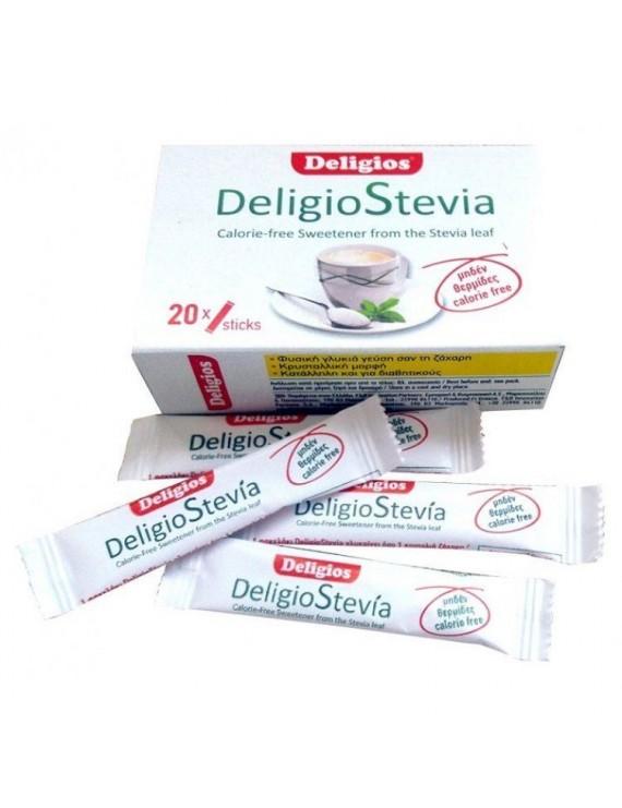 Deligios Stevia 20 sticks x 1.4 gr γλυκαντικό φυτικής προέλευσης από το φυτό στέβια