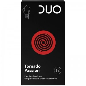 Duo Tornado Passion Προφυλακτικά για Μοναδική Eυχαρίστηση 12τμχ