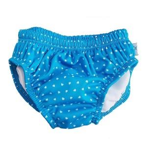 Fashy Little Stars Μαγιο-Πανα Κορίτσι Γαλάζιο με καρδούλες 0-6 μηνων (62/68)