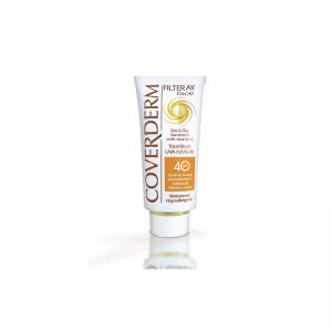 Coverderm Filteray Face Tinted Soft Brown SPF40 Αντηλιακή Κρέμα Προσώπου με Χρώμα 50ml