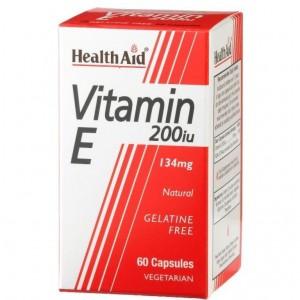 Health Aid Vitamin E 200iu Natural vegetarian capsules 60's