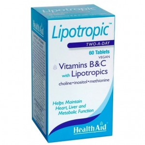 Health Aid Lipotropics with Vitamins B & C, 60 Tablets