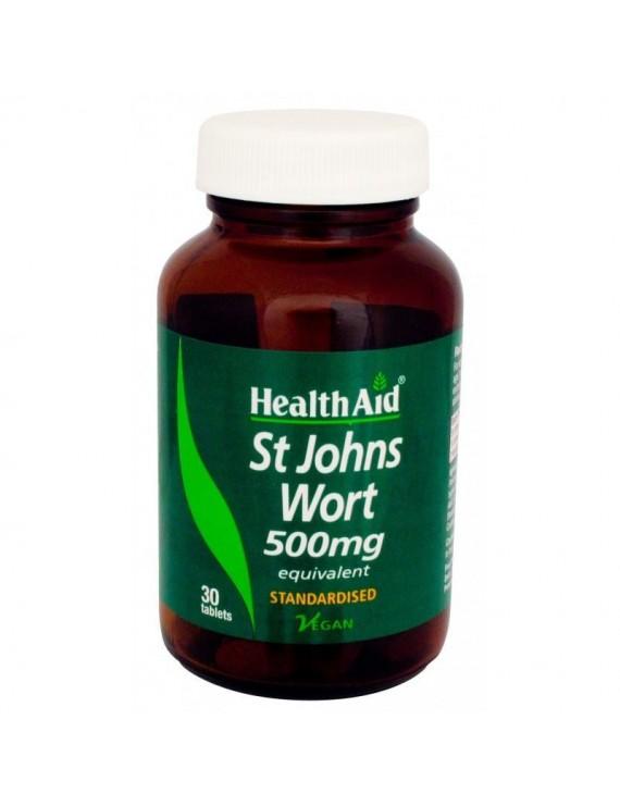 Health Aid St. John's Wort Extract 500mg, 30 VegTabs