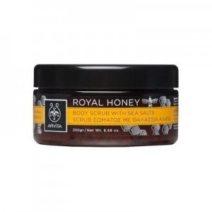 Apivita Royal Honey Body Scrub with Sea Salts, Απολέπιση Σώματος με Θαλάσσια Άλατα,200ml