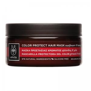 Apivita Hair Mask Μάσκα Προστασίας Χρώματος με Ηλίανθο & Μέλι 200ml.