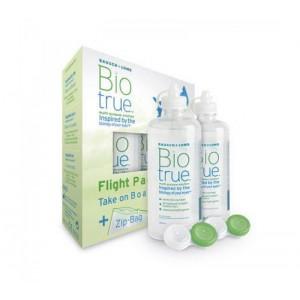 Bausch and Lomb Biotrue Flight Pack Υγρό Φακών Επαφής 2 x 60ml + 2 Θήκες Φακών