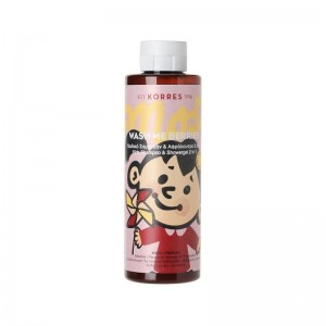 Korres Wash Me Berries Girls Παιδικό Σαμπουάν & Αφρόλουτρο 2 σε 1 για Κορίτσια, με άρωμα βατόμουρο, 250ml