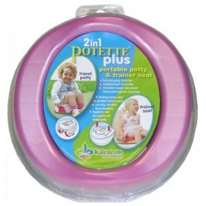 Babywise Potette Plus Travel ταξιδιωτικό γιογιό και τουαλέτα κάθισμα εκπαιδευτής 1τμχ Ροζ