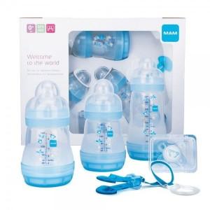 Mam Gift Set 0+ Σετ Δώρου 5 Προϊόντων Βρεφανάπτυξης για Νεογέννητα, 5 τεμάχια  Γαλαζιο