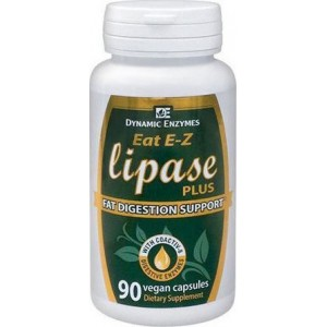 DYNAMIC ENZYMES Dynamic Enzymes Eat E-Z Lipase Plus 90caps