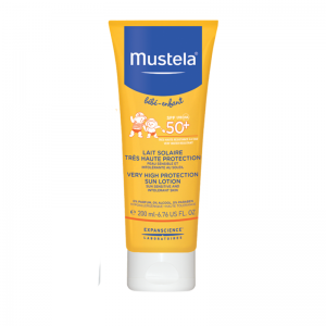 Mustela Very High Protection Sun Lotion SPF50+ Βρεφικό Αντηλιακό Γαλάκτωμα 200ml