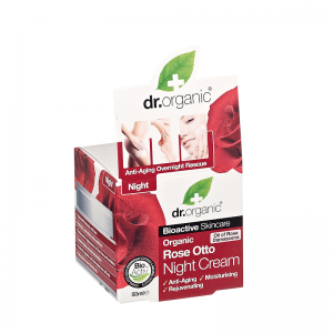 Dr Organic Rose Otto Night Cream με Βιολογικό Έλαιο Τριαντάφυλλου 50 ml