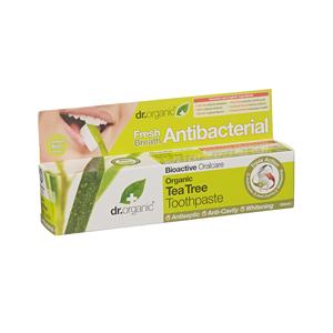 Dr.Organic Tea Tree Toothpaste Antibacterial Αντιδακτηριακή Οδοντόπαστα με Βιολογικό Τεϊόδεντρο 100 ml