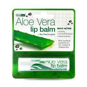 Optima Aloe Dent Aloe Vera Lip Balm Προστασία και ενυδάτωση για ξηρά - σκασμένα χείλη 4gr