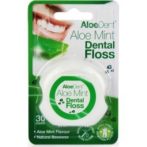 Optima Aloe Mint Dental Floss Εύκολη Διείσδυση Μέσα Στα Δόντια 30m