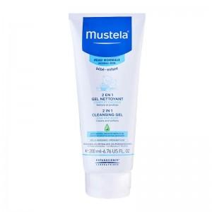 Mustela 2 in1 Cleansing Gel Βρεφικό Τζελ Καθαρισμού 200ml