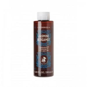 Korres Shower Gel Jasmine Bergamot Αφρόλουτρο με Άρωμα από γιασεμί & νότες περγαμόντου, 250ml