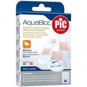 Pic Solution AquaBloc Waterproof UltraThin Strips Εξαιρετικά Λεπτό Τσιρότο, Αδιάβροχο, Mix 20 Τεμαχίων διαφόρων μεγεθών