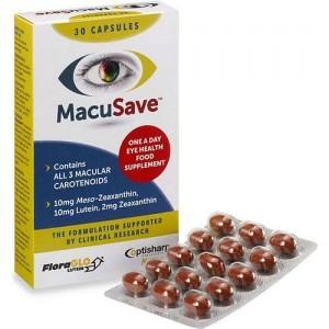 MacuSave 30Caps ((Συμπλήρωμα Διατροφής για την Υγεία των Ματιών)