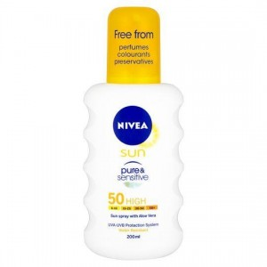 NIVEA SUN Pure & Sensitive Spray SPF 50, 200ml