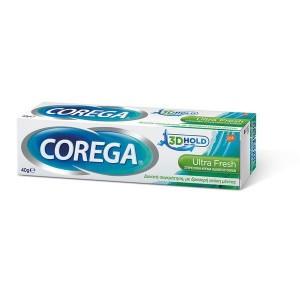 Corega 3D Hold Ultra Fresh Στερεωτική Κρέμα Οδοντοστοιχιών 40g (δυνατή συγκράτηση,)40GR