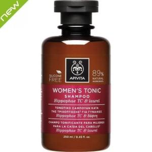 Apivita Women's Tonic Σαμπουαν Τονωτικό Σαμπουάν κατά της Γυναικείας Τριχόπτωσης με Hippophae TC & Δάφνη, 250ml