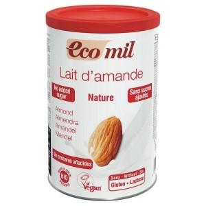 Ecomil Γάλα αμυγδαλου χωρις ζαχαρι σκόνη (για 5-8 lit γάλα) ενέργεια 400gr