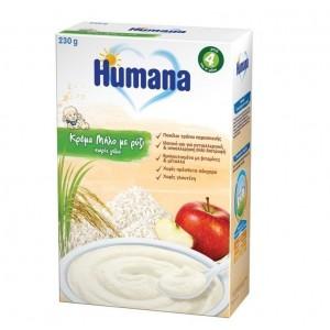 Humana Κρέμα Μήλο με Ρύζι Χωρίς Γάλα, 230g
