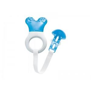 MAM Mini Cooler & Clip 555,Μπλε Πολυκρίκος Οδοντοφυϊας με Νερό & Κορδέλα Στήριξης απο 2+ Μηνών