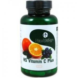 Health Sign HS Vitamin C plus Βιταμίνη C Υψηλής Βιοδιαθεσιμότητας σε μη Όξινη Μορφή, 90 caps
