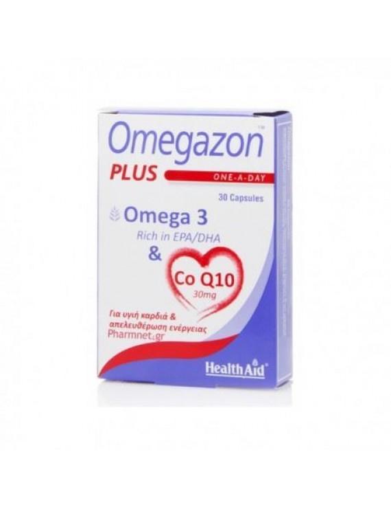HEALTH AID Omegazon Plus (Ω3 & CoQ10) 30 caps Συμπλήρωμα διατροφής.