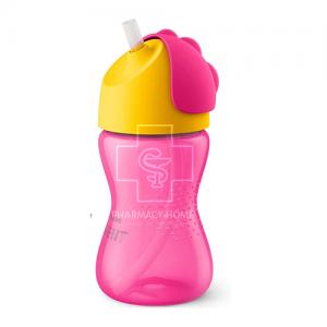 Avent - Κύπελλο με καλαμάκι 12m+, Χρώμα Ροζ/Κίτρινο 300ml (SCF798/01)