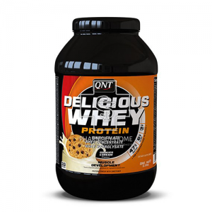 QNT - Delicious Whey Protein Σκόνη Πρωτεΐνης Με Γεύση Cookies & Cream 1kg (01-048-248)