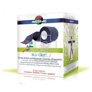 Master-Aid Sport Blu Grip Αυτοκόλλητος πιεστικός ελαστικός επίδεσμος 6εκ. Χ 4,5μ.