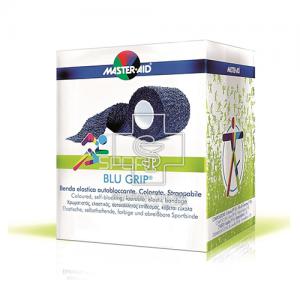 Master-Aid Sport Blu Grip Αυτοκόλλητος πιεστικός ελαστικός επίδεσμος 8εκ. Χ 4,5μ.