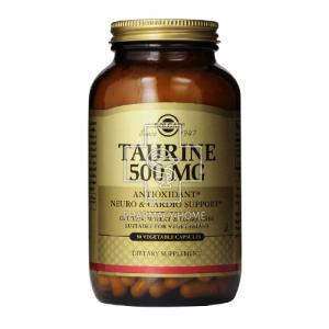 Solgar Taurine 500mg Αντιυπερτασικό-Προστασία Χολής, Οφθαλμών 50 Caps