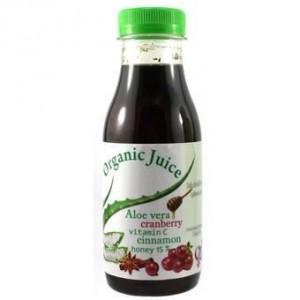 Erythro-Forte ORGANIC JUICE ALOE VERA CRANBERRY 500GR συμπλήρωμα διατροφής για τις λοιμώξεις του ουροποιητικού, συμπυκνωμένος χυμός ALOE VERA με αποξηραμένα cranberries, Mέλι, Κανέλα και Βιταμίνη C 500gr