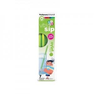 Power Health, Vitasip Kids Με Ψευδάργυρο & βιταμίνη C (Με Γεύση Μήλο),7 Καλαμάκια
