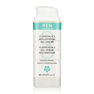 REN Clearcalm3 Replenishing Gel-Cream κρέμα-τζελ νυκτός 50ml