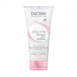 Ducray Ictyane Gel Moussant Surgras, Καθαριστικό Τζελ Προσώπου-Σώματος για Ξηρό Δέρμα, 200ml